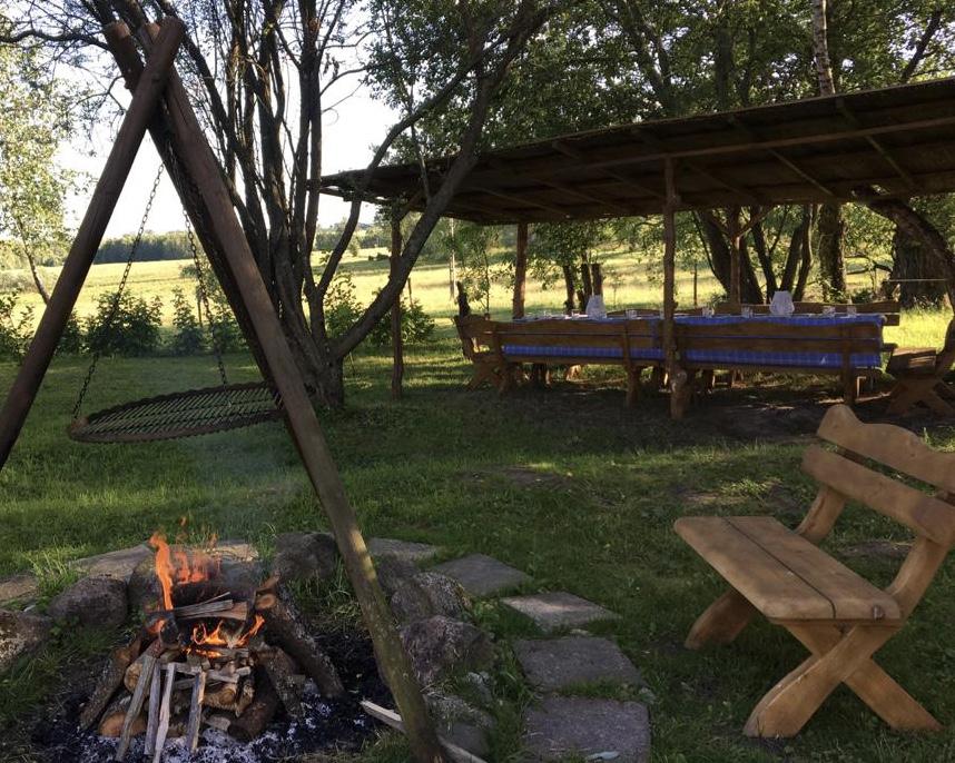pole namiotowe w Agroturystyce Bobrownia